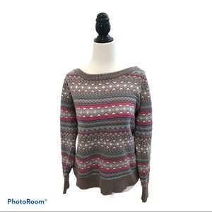 Oxygen Fair Isle Multicolored Sweater